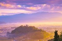 福井県 朝霧の越前大野城
