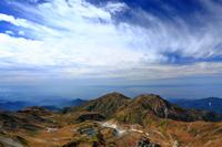 富山県 大汝山より立山室堂と奥大日岳と大日岳