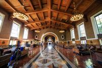アメリカ ロサンゼルス ユニオン駅の待合室