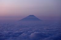 長野県 雲海の富士山