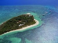 オーストラリア グレートバリアリーフ グリーン島 空撮