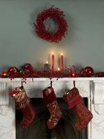 クリスマスキャンドルと飾り
