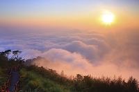 台湾 阿里山と夕日 嘉義県