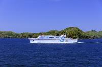 島根県 隠岐航路 知夫里島付近 フェリーしらしま