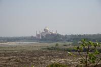 インド アグラ城よりタージマハールを望む