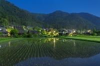 京都府 美山かやぶきの里の夜景