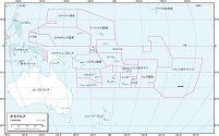 オセアニア 白地図