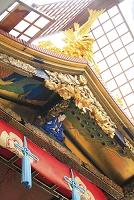 京都府 祇園祭 長刀鉾の鯱と後屋根の小鍛冶宗近の彫刻