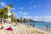 アメリカ合衆国 ハワイ ワイキキビーチ