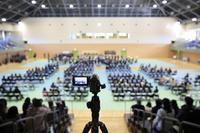 イベントを撮影するビデオカメラ