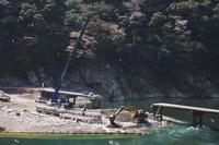高知県 岩間沈下橋の復旧工事と四万十川