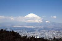 静岡県 乙女峠から望む富士山と御殿場市街