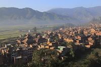 ネパール パナウティ シヴァ寺院と町並み
