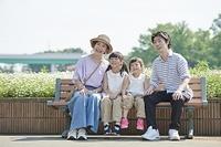 日本人家族のポートレート