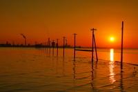 千葉県 江川海岸の夕日