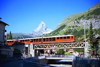 スイス・ツェルマット ゴルナーグラート鉄道とマッターホルン