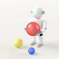 ボールを持つロボット CG