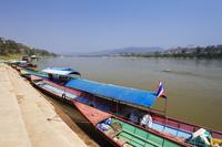 タイ メコン川と船着き場