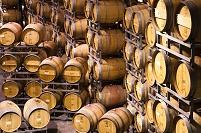 ワイン樽の倉庫
