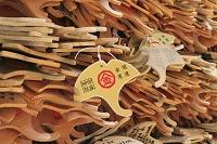 京都府 御金神社のイチョウ形の絵馬
