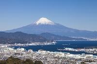 静岡県 日本平より清水港と富士山
