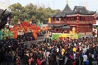 中国・上海 春節(旧正月)の豫園商城