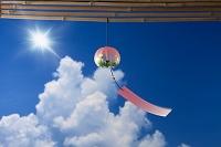 入道雲と太陽と風鈴