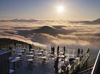 北海道 占冠村 雲海テラスの朝