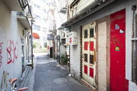 三軒茶屋の路地裏の飲屋街