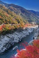 徳島県 紅葉と大歩危峡