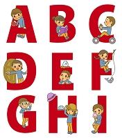 アルファベットと子どもA~I