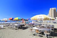 夏の片瀬東浜海水浴場