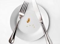 食べカスが残った皿