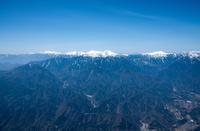 赤石山脈(武川町付近より甲斐駒ヶ岳 甲斐駒ヶ岳 北岳方面)