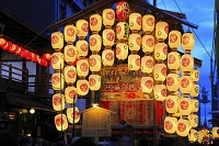京都府 祇園祭 宵山の北観音山と南観音山