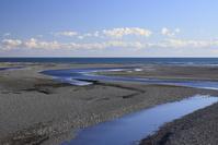 川の下流 安倍川の河口 静岡県