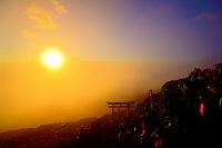 山梨県 富士山頂上からのご来光