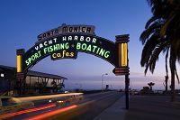 アメリカ合衆国 カリフォルニア サンタモニカ桟橋