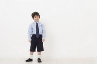 制服を着たハーフの男の子