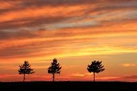 北海道 夕焼けのメルヘンの丘