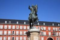 スペイン マドリッド マヨール広場 フェリペ三世騎馬像