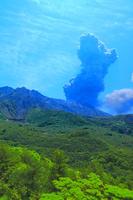 鹿児島県 湯之平展望所から桜島山並み