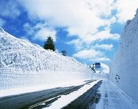 青森県・青森市 雪の回廊(八甲田へ行く道)