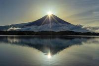 静岡県 富士山 Wダイヤモンド富士 田貫湖 世界文化遺産