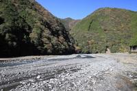 川の中流 安倍川 静岡県