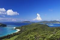 沖縄県 古座間味ビーチと外地島と慶留間島と阿嘉島 座間味島
