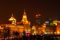 上海 外灘のライトアップ夜景