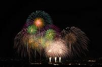 山梨県 神明の花火