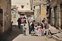 イエメン イッブ 旧市街の路地裏