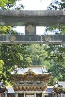栃木県 日光東照宮の陽明門と鳥居